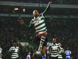 Islam Slimani podría salir del Sporting de Lisboa por unos 30 millones de euros. Archivo/EFE/EPA