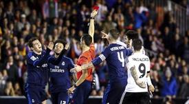 Sánchez Martínez expulsó a Kovacic en la 15-16 frente al Valencia. EFE