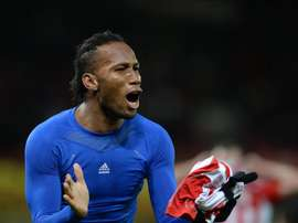 El delantero marfileño Didier Drogba sufre una lesión en la rodilla. EFE/Archivo