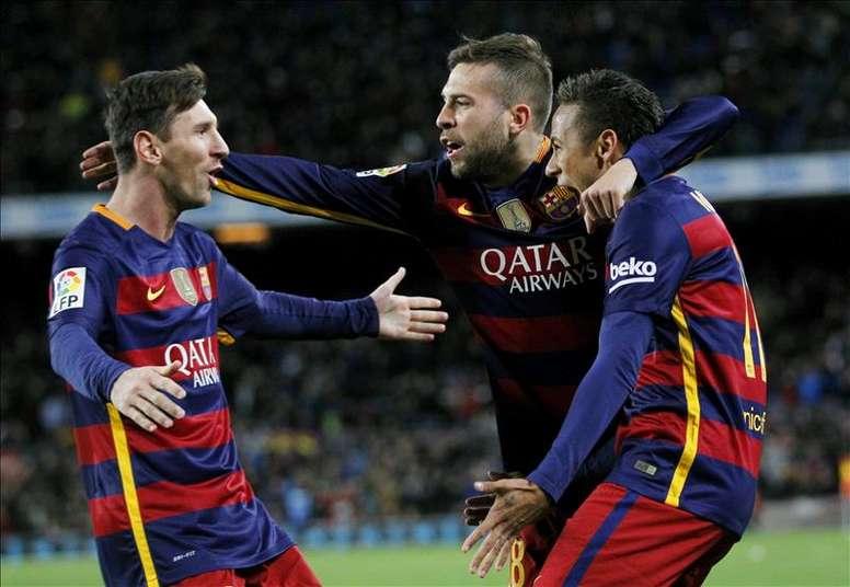 Jordi Alba falou sobre o possível regresso de Neymar. EFE