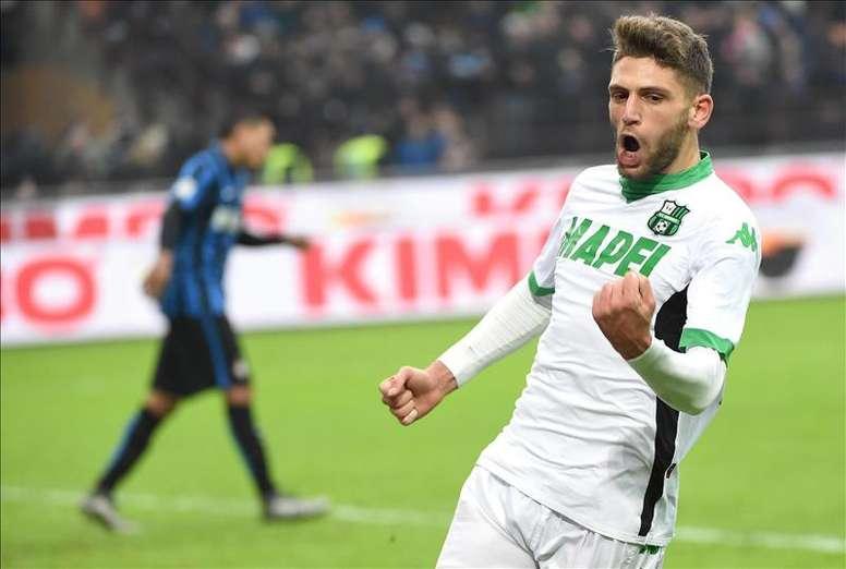 L'Italien Domenico Berardi veut rejoindre un grand club. EFE