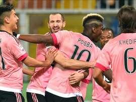 Paul Labile Pogba foi colega de Chiellini na Juventus. EFE/EPA