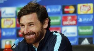L'entraîneur du Zenit André Villas-Boas en conférence de presse. EFE