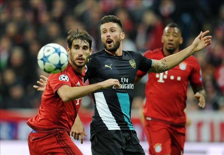 Arsenal will play Bayern Munich in the last 16 of the Champions League. EFE/Archivo