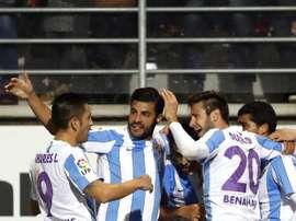 El Málaga dejó buenas sensaciones ante el Fortuna Dusseldorf. EFE