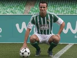 El delantero brasileño Leandro Damia asegura que no continuará en el Betis. EFE