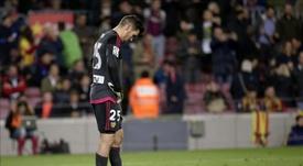 Le gardien australien du Valence CF lors d'un match de Liga. EFE