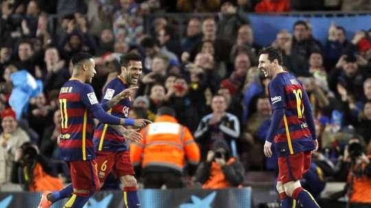 Alves et Messi partagent une belle amitié. EFE
