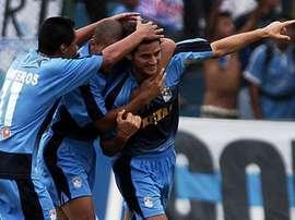 Imagen de archivo de jugadores del Sporting Cristal. EFE/Archivo