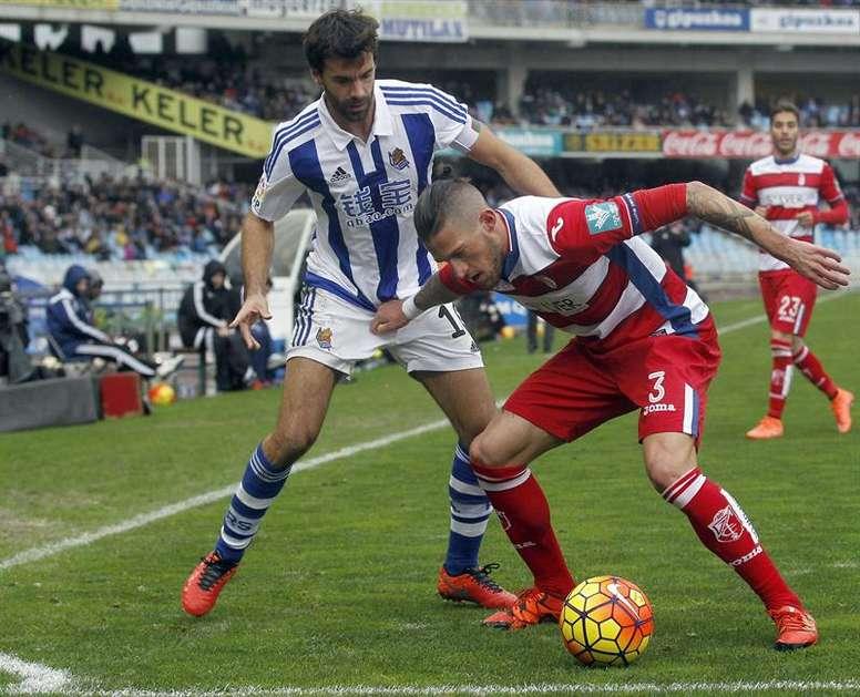 Biraghi volverá al Inter tras su cesión en el Granada. EFE/Archivo