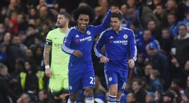 Willian and Hazard could both head to the Camp Nou this summer. EFE/EPA