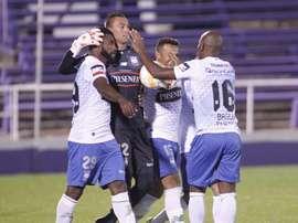 En la imagen, jugadores del Emelec de Ecuador. EFE/Archivo