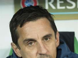 Gary Neville faces pressure from the Spanish media. EFE