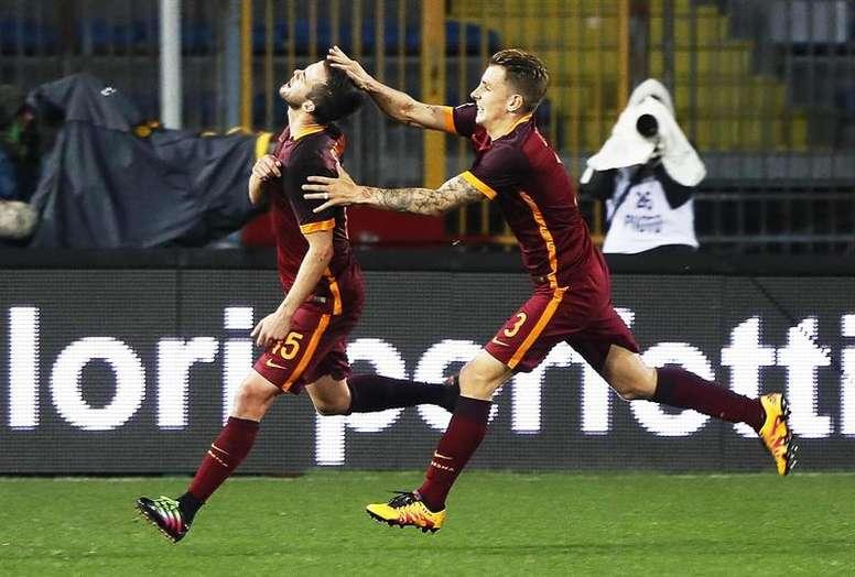 La Roma se impuso al Empoli con un doblete de El Shaarawy. EFE/EPA