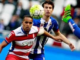 El Arabi ha firmado una de sus mejores temporadas en el Granada. EFE