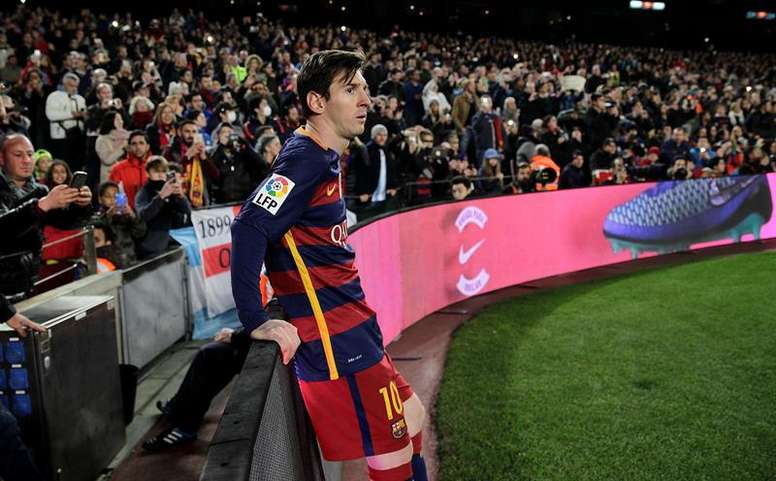 Messi continues receiving compliments for his game and attitude. EFE
