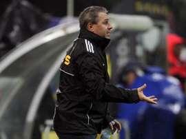 Marius Sumudica, entrenador del FC Astra de la primera división. EFE/Archivo