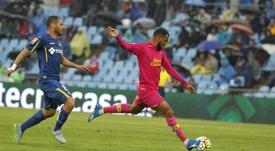 El centrocampista entre con el Arucas. EFE/Archvio