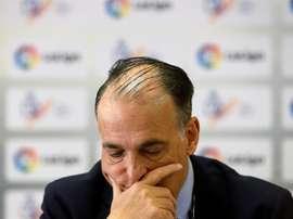 El presidente de la Liga de Fútbol Profesional, Javier Tebas. EFE/Archivo