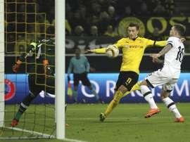 Le joueur du Borussia Dortmund Marco Reus, auteur du deuxième but face au Tottenham Hotspur