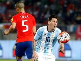 Silva entró en la prórroga de la final de la Copa América. EFE