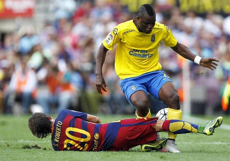 Wakaso es uno de los descartes de Las Palmas para la próxima temporada. AFP