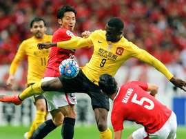 Yuki Abe (L) now plays for Urawa Red Diamonds. EFE