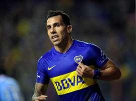 Carlos Tévez marcou no último lance do encontro. EFE