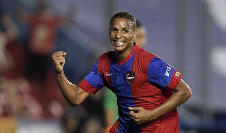 El delantero brasileño del Levante Deyverson Silva. EFE/Archivo