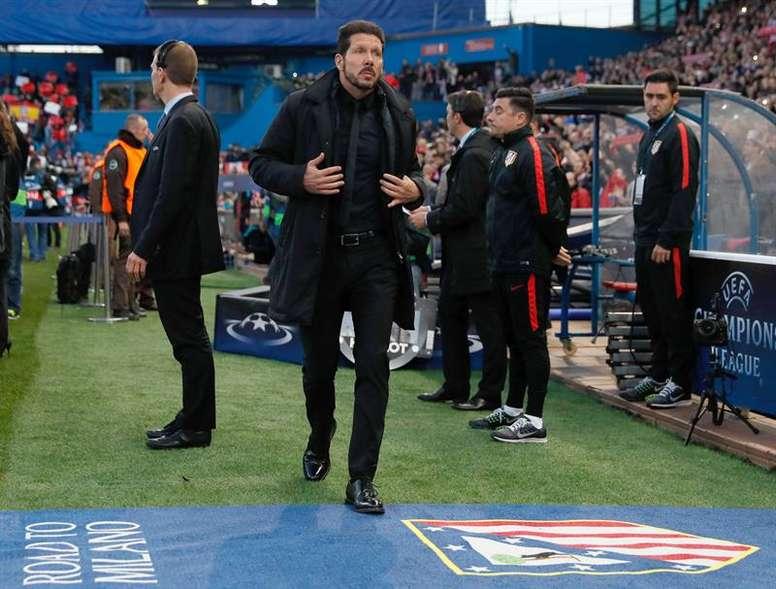 Simeone ya eliminó al Barcelona en cuartos en el curso 2013-14. EFE