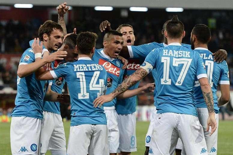 El conjunto napolitano consiguió vencer 3-1 al Spezia. AFP