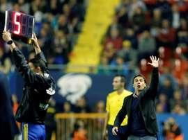El entrenador del Levante Rubi durante un partido. EFE/Archivo