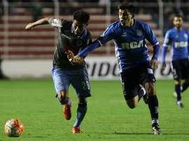 Acuña, goleador ante Gimnasia y Tiro, en un partido de Libertadores. EFE