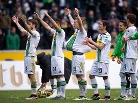 El Borussia Monchengladbach se sitúa a sólo un punto del Hertha de Berlín. EFE/EPA