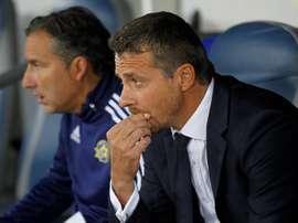 El director técnico del Maccabi, Slavisa Jokanovic. EFE/Archivo