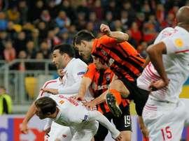 Stepanenko se ha mostrado muy optimista ante el choque contra el Sevilla. AFP