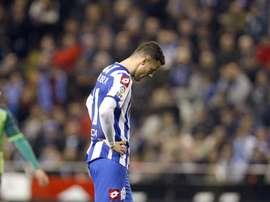 Oriol Riera no vestirá esta temporada la camiseta del Dépor. EFE/Archivo