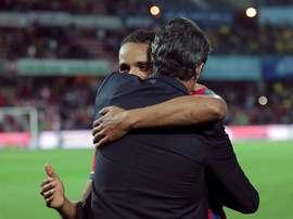 El-Arabi es optimista para el duelo ante el Sevilla. EFE