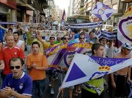 El Real Jaén es uno de los beneficiados por la subvención de la Diputación. EFE