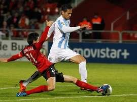 Roque Santa Cruz sous le maillot du Málaga CF. EFE