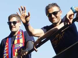 Luis Enrique pode voltar ao comando da Espanha. EFE