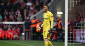 Oblak tiene un doble objetivo: darle la Champions al Atlético y la Eurocopa a Eslovenia. EFE