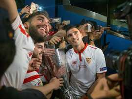 Jose Antonio Reyes with the Europa League with Seville. EFE