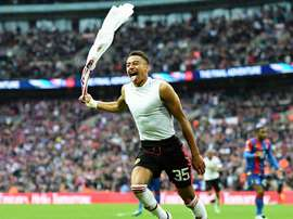Lingard celebrates scoring the winning goal in last year's FA Cup final. EFE