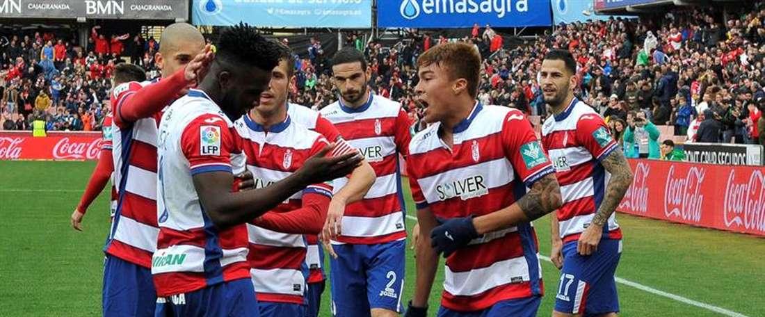 Luizinho y Robador no vestirán la camiseta del Granada la próxima campaña. EFE
