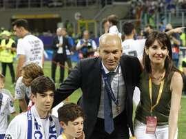 Zidane fier de son fils sur les réseaux sociaux : buteur avec le Real Madrid ! EFE