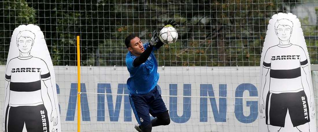 Real Madrid's Keylor Navas has been ruled out of the Copa America. EFE/Archivo