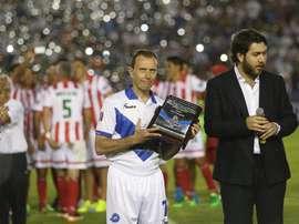 Emilio Butragueño fue homenajeado por el Celaya, pero hasta ahí llegó el homenaje. EFE