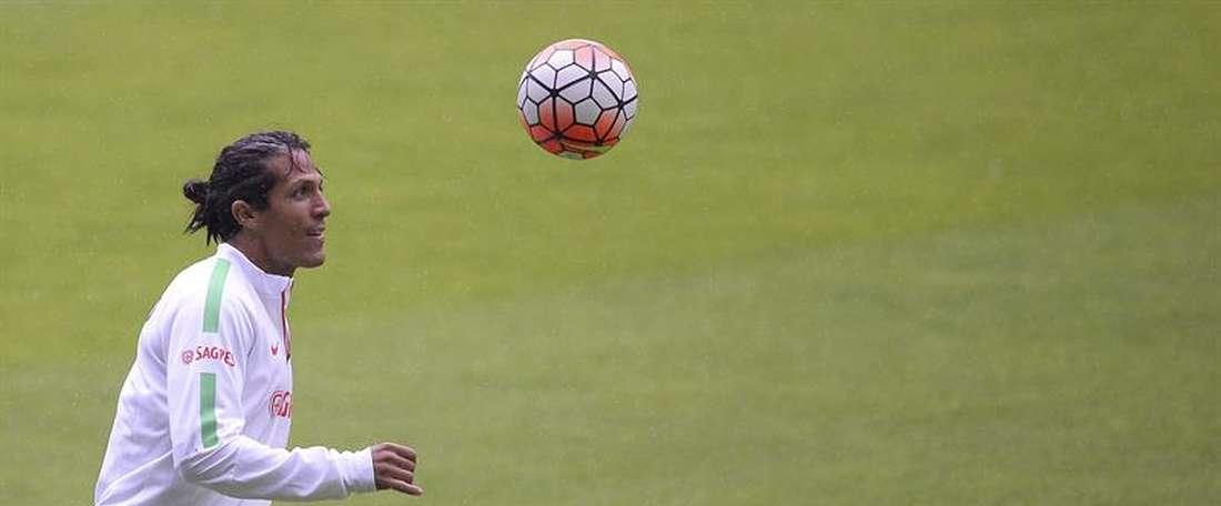 O internacional luso ainda é tem dado garantias nos jogos da Seleção portuguesa. EFE/Archivo