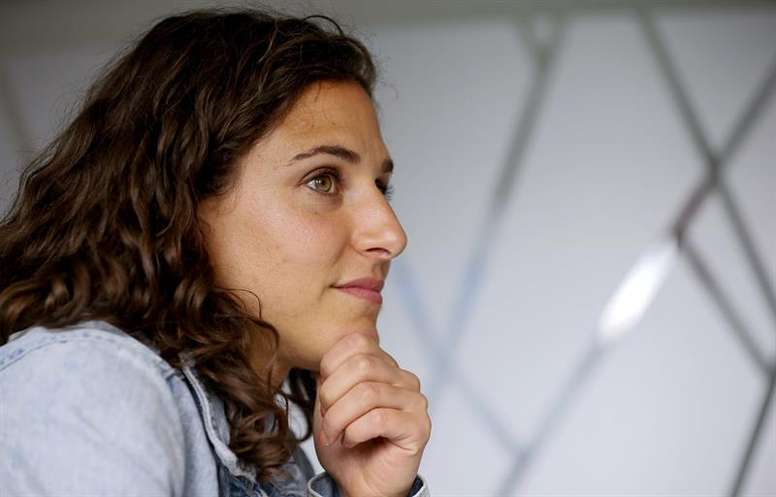 La española destacó el gran momento del fútbol femenino. EFE